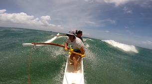 Kayaking-Saint Martin-Outrigger canoe surfing in St Martin-5
