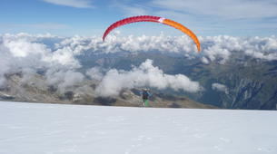 Paragliding-Verbier-Tandem paragliding flight over Verbier, Switzerland-1