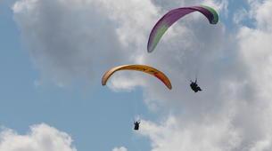 Paragliding-Verbier-Tandem paragliding flight over Verbier, Switzerland-3