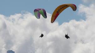 Paragliding-Verbier-Tandem paragliding flight over Verbier, Switzerland-5