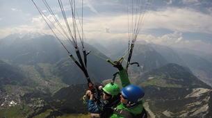 Paragliding-Verbier-Tandem paragliding flight over Verbier, Switzerland-6
