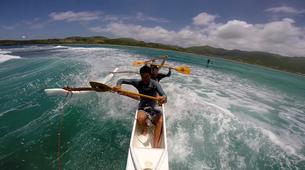 Kayaking-Saint Martin-Outrigger canoe surfing in St Martin-4