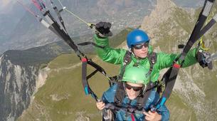 Paragliding-Verbier-Tandem paragliding flight over Verbier, Switzerland-2