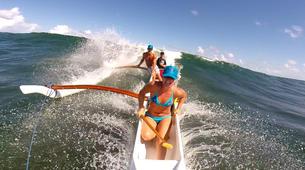 Kayaking-Saint Martin-Outrigger canoe surfing in St Martin-3