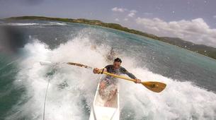 Kayaking-Saint Martin-Outrigger canoe surfing in St Martin-1