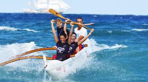 Kayaking-Saint Martin-Outrigger canoe surfing in St Martin-2