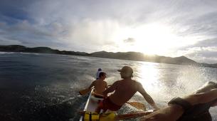 Kayaking-Saint Martin-Outrigger canoe surfing in St Martin-6