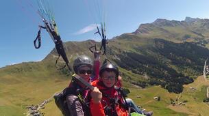 Paragliding-Verbier-Tandem paragliding flight over Verbier, Switzerland-4