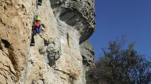 Via Ferrata-Centelles-Via ferrata Les Baume Corcades-3