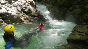 Canyoning-Annecy-Canyons Initiation d'Angon ou Montmin autour du Lac d'Annecy-2
