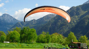 Paragliding-Lake Idro-Tandem paragliding flight over Lake Idro in Trentino-3
