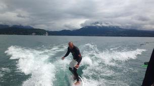 Wakeboard-Annecy-Coaching Privé Initiation Wakeboard ou Wakesurf Bateau au Lac d'Annecy-4