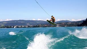 Wakeboarding-Annecy-Private wakeboarding and wakesurfing boat hire in Lake Annecy-1