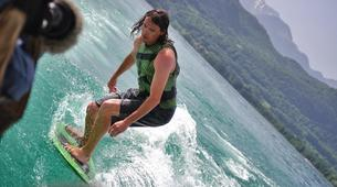 Wakeboarding-Annecy-Boat wakeboarding or wakesurfing beginner private coaching in Lake Annecy-1