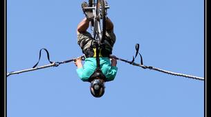 Bungee Jumping-La Clusaz, Massif des Aravis-New generation bungee jumping (50m) in Saint-Jean-de-Sixt near Annecy-2