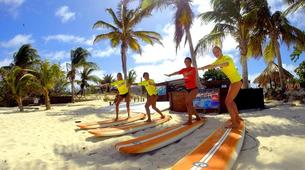 Surfing-Saint Martin-Surfing courses and lessons at Galion beach, St Martin-2