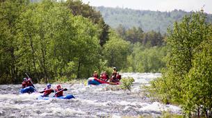 Rafting-Hardangervidda National Park-Duckies down the Numedalslågen in Norway-6