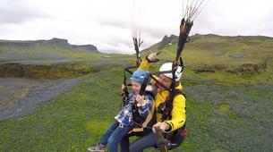 Paragliding-Vik i Myrdal-Tandem paragliding flight over Vik i Myrdal, Iceland-1