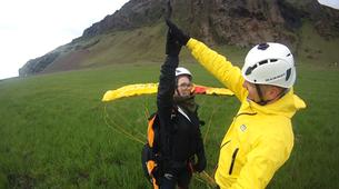 Paragliding-Vik i Myrdal-Tandem paragliding flight over Vik i Myrdal, Iceland-9