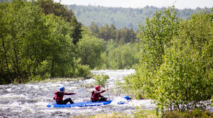 Rafting-Hardangervidda National Park-Duckies down the Numedalslågen in Norway-3