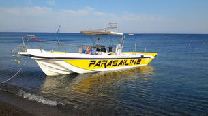 Parasailing-Santorini-Parasailing over Perivolos Beach, Santorini-2