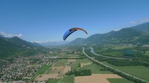 Paragliding-Grenoble-Tandem paragliding flight over Saint Hilaire du Touvet, Grenoble-3