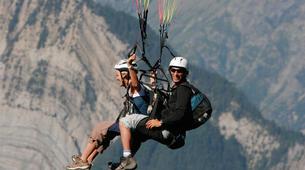 Paragliding-Grenoble-Tandem paragliding flight over Saint Hilaire du Touvet, Grenoble-4