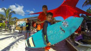 Surfing-Saint Martin-Surfing courses and lessons at Galion beach, St Martin-1