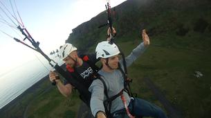 Paragliding-Vik i Myrdal-Tandem paragliding flight over Vik i Myrdal, Iceland-7