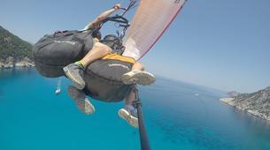 Paragliding-Kefalonia-Tandem paragliding flight over Kefalonia-2