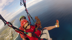 Paragliding-Saint-Leu-Tandem paragliding flight over the lagoon of Saint Leu, Reunion Island-7