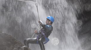 Canyoning-Céret-Intermediate canyoning at Gourg des Anelles in Céret-2
