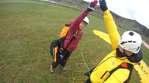 Paragliding-Vik i Myrdal-Tandem paragliding flight over Vik i Myrdal, Iceland-11