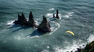 Paragliding-Vik i Myrdal-Tandem paragliding flight over Vik i Myrdal, Iceland-2