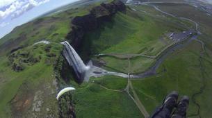 Paragliding-Vik i Myrdal-Tandem paragliding flight over Vik i Myrdal, Iceland-3