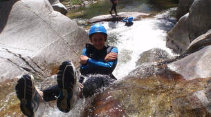 Canyoning-Céret-Intermediate canyoning at Gourg des Anelles in Céret-1