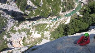 Rock climbing-Ardeche-Escalade en Grande Voie dans les Gorges de l'Ardèche-3