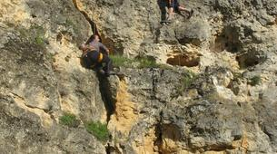 Rock climbing-Turegano-Climbing and abseiling in vertical walls of the Valley of Piron-5