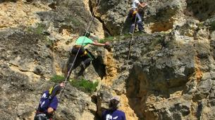 Rock climbing-Turegano-Climbing and abseiling in vertical walls of the Valley of Piron-4