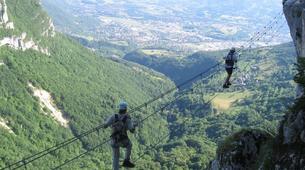 Via Ferrata-Chambéry-Via Ferrata of Jules Carret in the Bauges Massif near Chambery-1