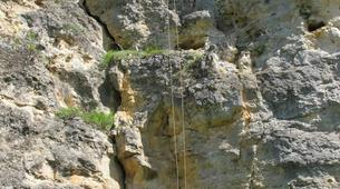 Rock climbing-Turegano-Climbing and abseiling in vertical walls of the Valley of Piron-1