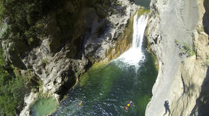 Canyoning-Omis-Extreme canyon of Cetina River in Omis, Dalmatia-1