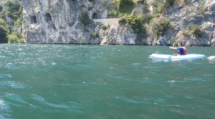 Rock climbing-Arco-Deep Water Soloing in Arco near Lake Garda-6