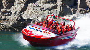 Jet Boating-Hanmer Springs-Jet boat on the Waiau River in Hanmer Springs, New Zealand-2
