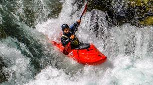 Canoë-kayak-Alagna Valsesia-Private kayaking lessons down Sesia River near Alagna Valsesia-1