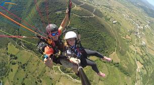 Paragliding-Ioannina-Tandem paragliding flight over Ioanina Lake, Greece-3