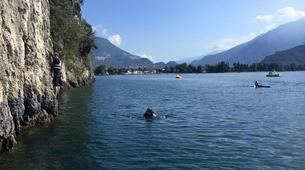 Rock climbing-Arco-Deep Water Soloing in Arco near Lake Garda-4