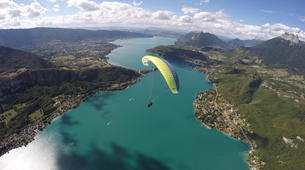 Paragliding-Annecy-Tandem paragliding flight above Lake Annecy-1