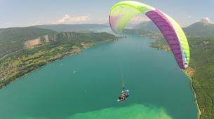 Paragliding-Annecy-Tandem paragliding flight above Lake Annecy-3