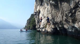 Rock climbing-Arco-Deep Water Soloing in Arco near Lake Garda-2